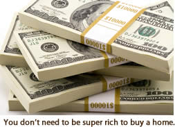 You don't need to be super rich to buy home