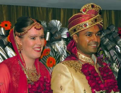 Indian married couple Nri
